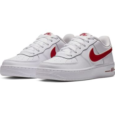 Nike Air Force 1-3 GS Sneaker weiß rot AV6252 101 – Bild 3