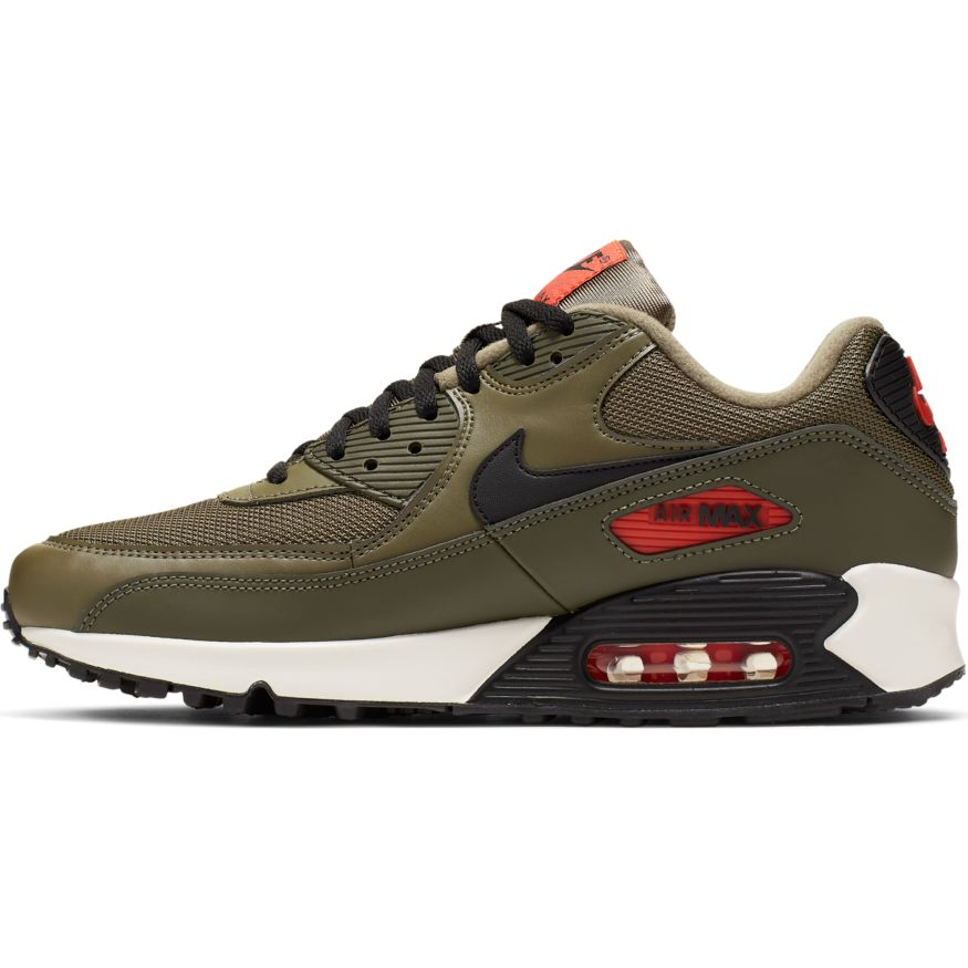 Nike Air Max 90 Essential Herren Sneaker oliv orange AJ1285 205