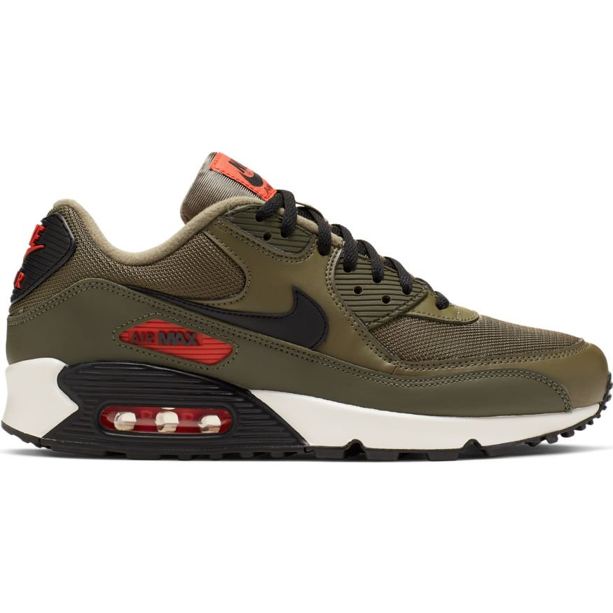 sports shoes 6eb84 0326e Nike Air Max 90 Essential Herren Sneaker oliv orange AJ1285 205