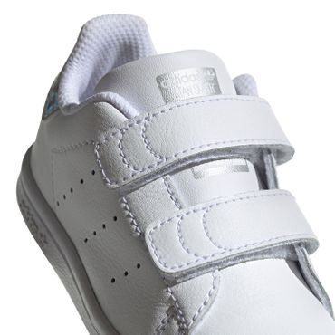 adidas Originals Stan Smith CF I Kinder Sneaker weiß metallic EE8485 – Bild 4