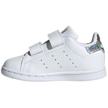 adidas Originals Stan Smith CF I Kinder Sneaker weiß metallic EE8485 – Bild 2