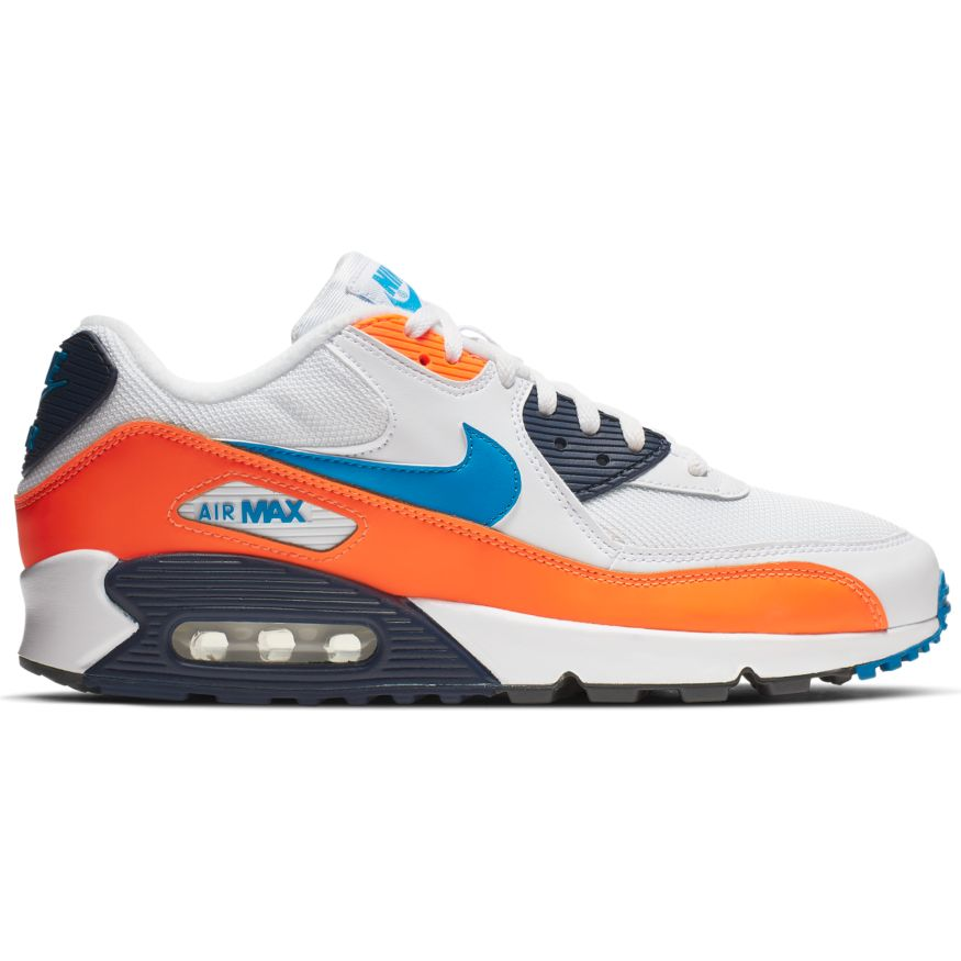 low priced e6720 c3188 Nike Air Max 90 Essential Herren Sneaker weiß blau orange AJ1285 104
