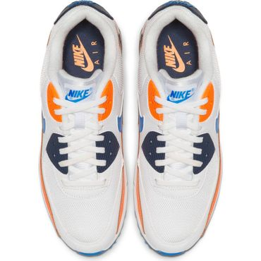 Nike Air Max 90 Essential Herren Sneaker weiß blau orange AJ1285 104 – Bild 4