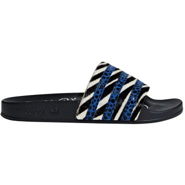adidas Originals Adilette Out Loud Damen Slipper schwarz animal-print CM8493 – Bild 1