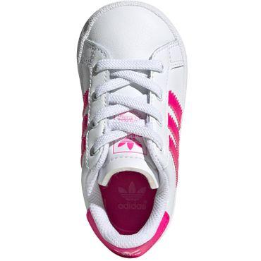adidas Originals Coast Star EL I Kinder Sneaker weiß pink EE7509 – Bild 7