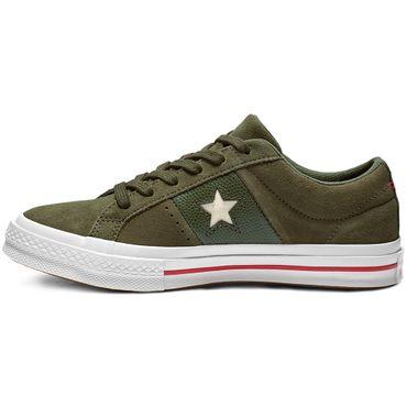Converse One Star OX Damen Sneaker grün weiß rot 163198C – Bild 2