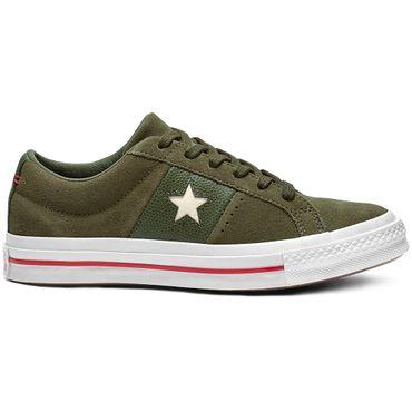 Converse One Star OX Damen Sneaker grün weiß rot 163198C – Bild 1