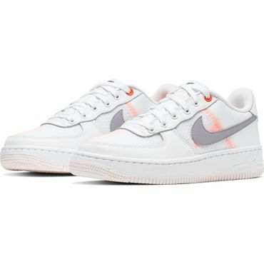 Nike Air Force 1 LV8 1 (GS) Sneaker weiß orange  AV0743 100 – Bild 3