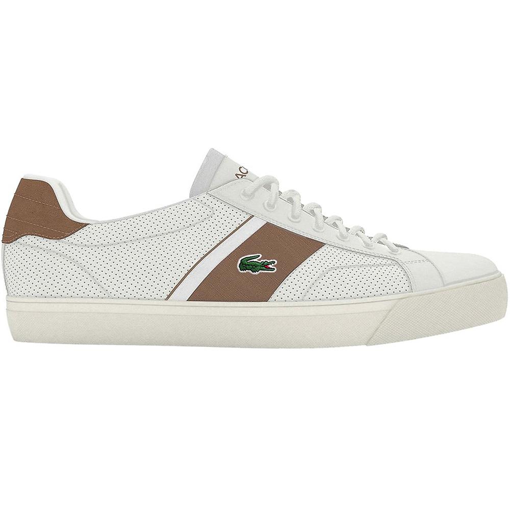 new styles 8ac3f 71618 Lacoste Fairlead 319 Herren Sneaker weiß braun 7-38CMA0064OT6
