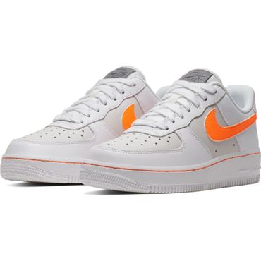 Nike Air Force 1 Low Damen Sneaker weiß orange CJ9699 100 – Bild 3