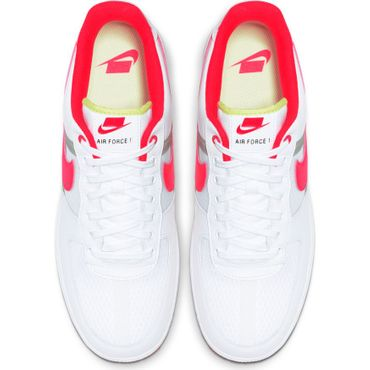Nike Air Force 1 '07 LV8 1 Sneaker weiß rot CI0060 102 – Bild 5