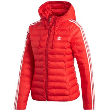 adidas Originals Slim Jacket Damen Steppjacke rot weiß ED4785 – Bild 1