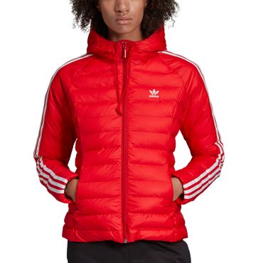 adidas Originals Slim Jacket Damen Steppjacke rot weiß ED4785 – Bild 3