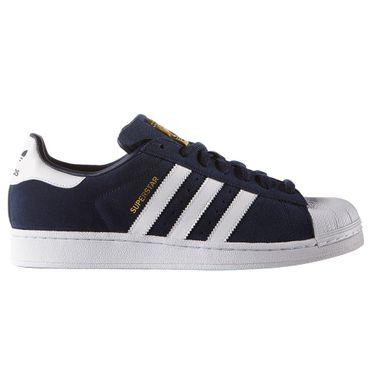 adidas Superstar Suede Retro Sneaker navy blau – Bild 1