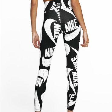 Nike NSW Damen Leggings mit Print schwarz weiß CJ2059 010 – Bild 2