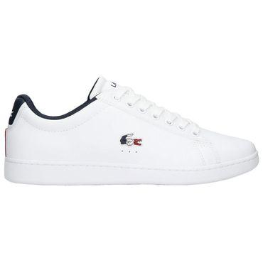 Lacoste Carnaby Evo Tri1 SMA Herren Sneaker weiß blau rot 7-39SMA0033407