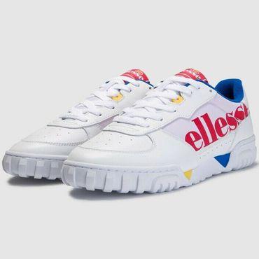 Ellesse Tanker LO OG Leather AM Herren Sneaker weiß rot blau 6-13792 – Bild 3