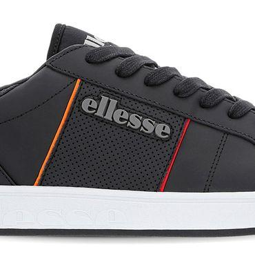 Ellesse LS-80 LTHR AM Herren Sneaker schwarz rot 6-10353 – Bild 2