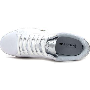 Lacoste Carnaby Evo 220 1 SFA Damen Sneaker weiß silber 7-39SFA0038108 – Bild 3