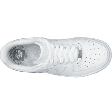 Nike Air Force 1 GS Kinder & Damen Sneaker weiß all white 314192 117 – Bild 3