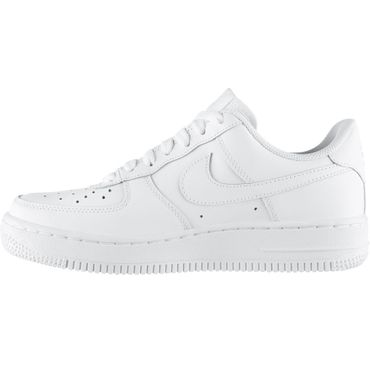 Nike Air Force 1 GS Kinder & Damen Sneaker weiß all white 314192 117 – Bild 2