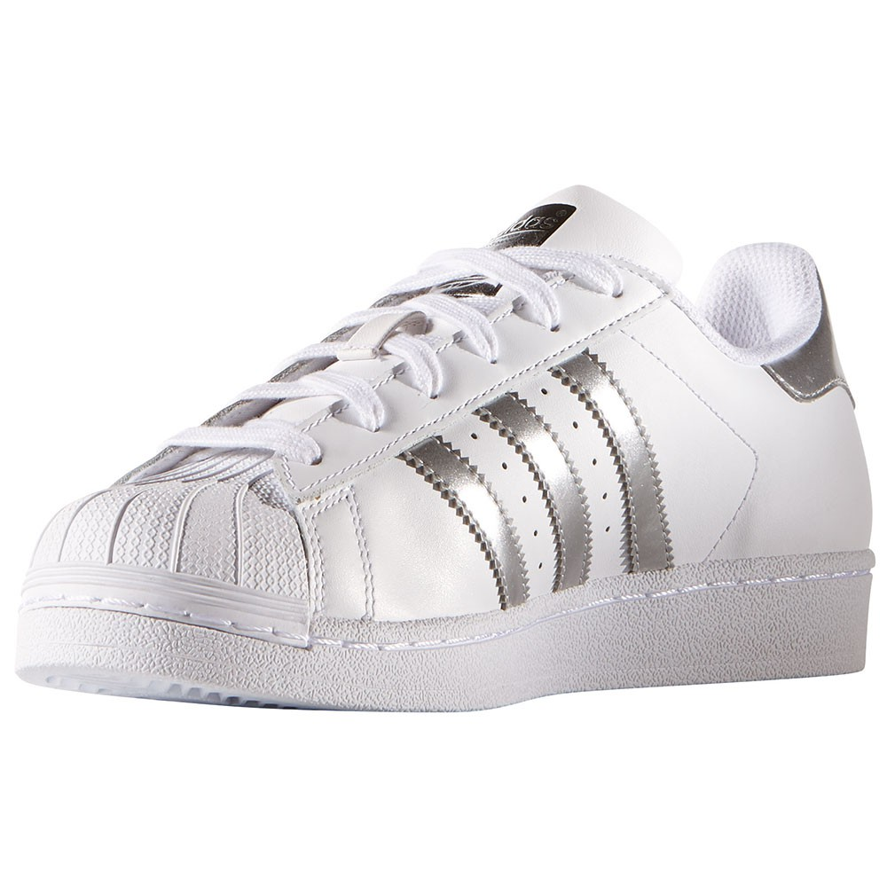 adidas Originals Superstar Damen Sneaker AQ3091 weiß silber