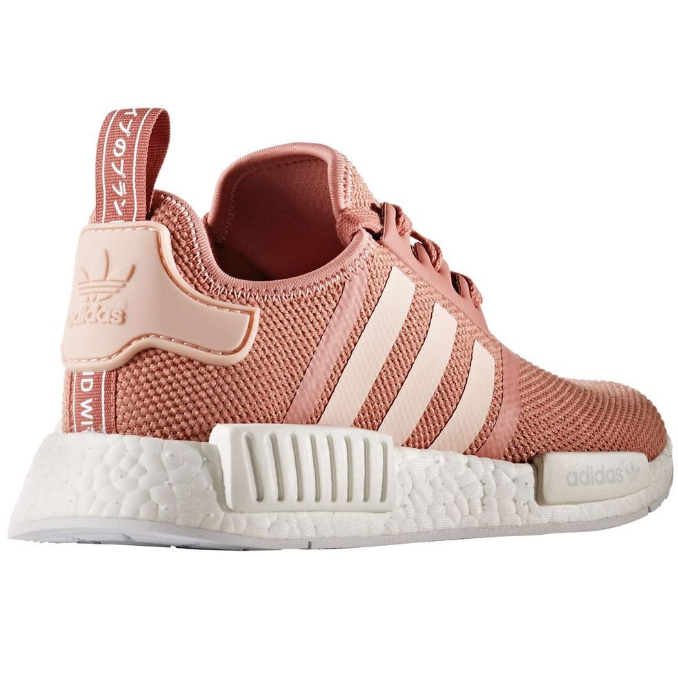 Weiß Adidas Sneaker Damen Rosa Running Nmd W r1 Nwv80mn