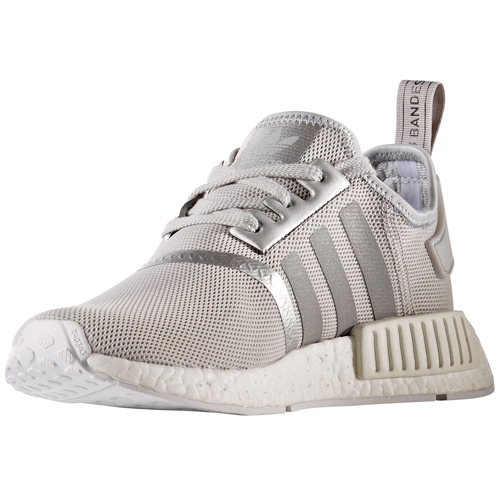 adidas nmd r1 w damen running sneaker grau wei. Black Bedroom Furniture Sets. Home Design Ideas