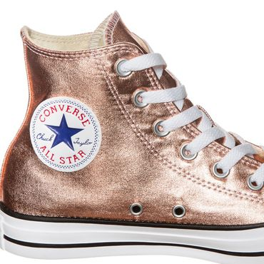 Converse All Star Hi Chuck Taylor Chucks metallic rosegold – Bild 3
