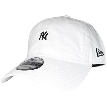 New Era Snapback 9Twenty Unstructured MLB New York Yankees weiß schwarz – Bild 1