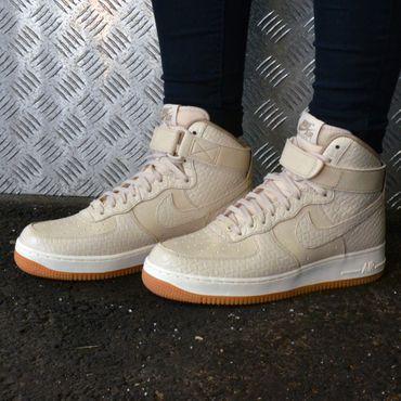 Nike Air Force 1 High Premium Sneaker oatmeal 654440 112 – Bild 4