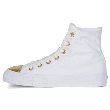 Converse All Star Hi Chuck Taylor Chucks weiß metallic gold – Bild 2