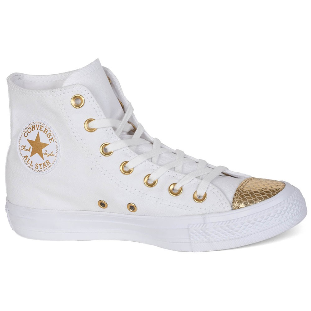 8da9ec011d6aed ... new style converse all star hi chuck taylor chucks weiß metallic gold  9e7b6 88950