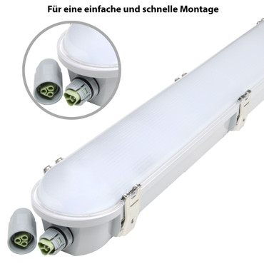 50W non-corrosive light / moisture-proof lamp - LED 150cm  – Bild 2