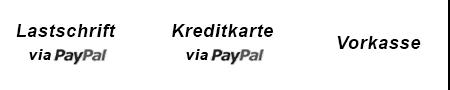 Zahlungsarten Lastschrift Kreditkarte Vorkass