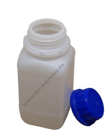 250ml HDPE-Vierkantflasche mit Deckel - Laborausführung (1 Stück) online kaufen