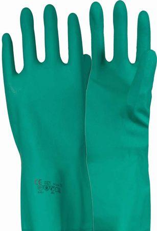 Chemikalienhandschuh grün - Nitril  CE CAT3 velour. online kaufen