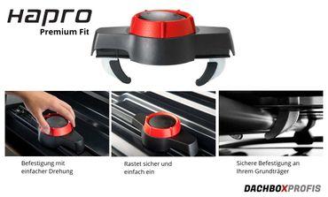 Dachbox Hapro Traxer 8.6 Silver Grey - 530 Liter – Bild 3
