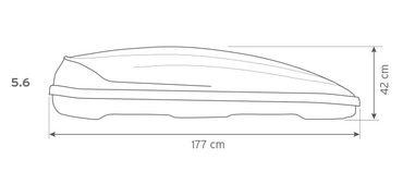 Dachbox Hapro Traxer 5.6 Silver Grey - 370 Liter – Bild 6
