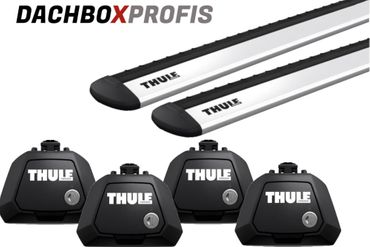 Dachgepäckträger - Thule WingBar Evo 7115 - 150 cm + Fußsatz Thule Evo Raised Rail 7104 - für 15 Modelle
