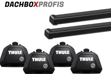 Dachgepäckträger - Thule SquareBar 7125 - 150 cm + Fußsatz Thule Evo Raised Rail 7104 - für 15 Modelle – Bild 1