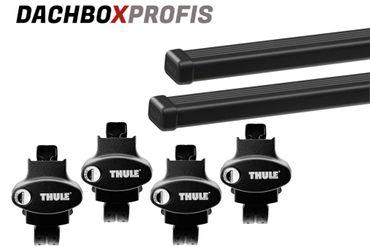 Dachgepäckträger - Thule SquareBar 7125 - 150 cm + Fußsatz 775 - für 7 Modelle – Bild 1