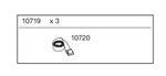 Ersatzteil - 3x Thule Spanngurte Strap á 2,20 m - 10719 001