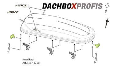 Ersatzteil - Hapro Kugelkopf für Traxer Dachboxen - 13760 – Bild 1