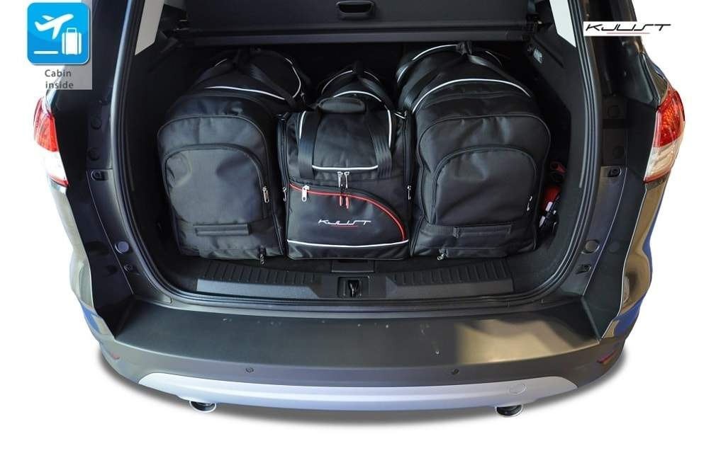 kofferraumtasche kjust ford kuga 2012 car bags set 4 taschen 7015020 dachboxprofis. Black Bedroom Furniture Sets. Home Design Ideas