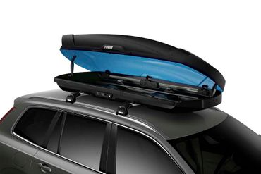 Dachbox Thule Motion XT XL - Limited Edition Blue - Matt Schwarz blaue Innenseite