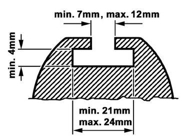 Dachboxen - T-Nut Befestigung (M8) Kamei - für Delphin, Husky, Topstar ab 2012 - Retoureware – Bild 2