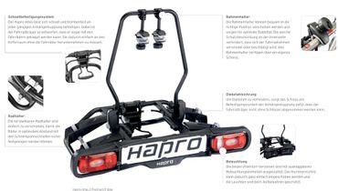 Fahrradträger Hapro Atlas 2 Premium Blue  - Kupplungsträger – Bild 3