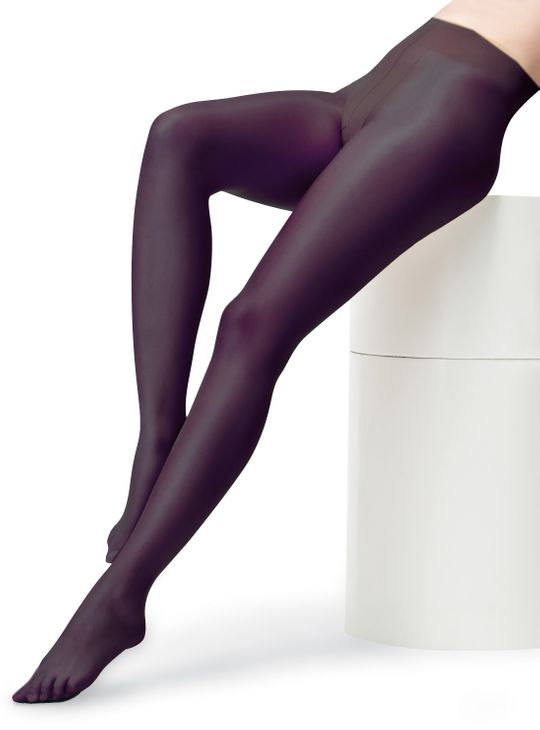 Glattglanz - Anti-Cellulite Look Strumpfhose Einfarbig HighTech Naht Tights 8-10 DEN – Bild 2