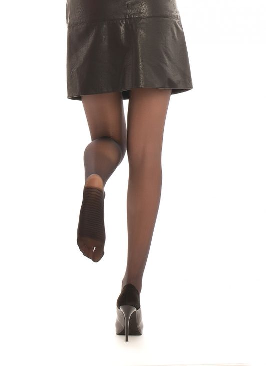 Fit Satin Look - Strumpfhose mit Massage Sohle Konform Einfarbig Tights 15 DEN – Bild 1